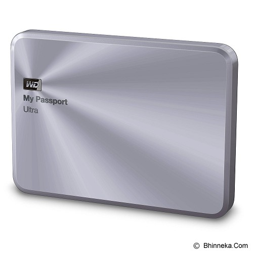WD My Passport Ultra Metal Edition 2TB USB 3.0 [WDBEZW0020BSL-PESN] - Silver - Hard Disk External 2.5 Inch